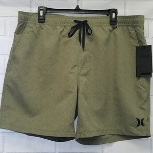 NWT Hurley Boardshorts men's XL olive A3A